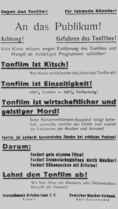 Tonfilm (gesehen bei Lumiere)